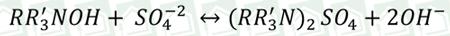 فرمول واکنش تبادل در رزین آنیونی بازی قوی