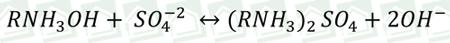 فرمول واکنش تبادل در رزین آنیونی بازی ضعیف
